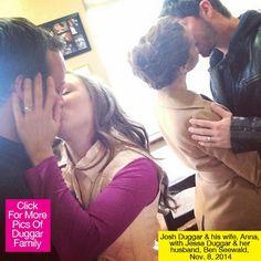 Josh & Anna Duggar as well Ben & Jessa Seewald Kiss