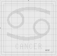 Stitch this free Zodiac Cross Stitch pattern for yourself or your favorite Cancer.