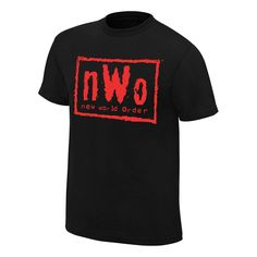 NWo Wolfpac Black & Red T-Shirt. WWE Authentic Apparel - The Official Shirt of the WWE Superstars. WWE Wear - The Official Wrestling T-Shirts of the WWE Superstars. Screen printed in the USA. Wwe T Shirts, Wrestling Shirts, Order T Shirts, Wrestling Wwe, Sports Shirts, Crazy Socks, Shirt Price, Shirt Designs, Retro