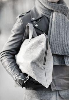 Autumn. Black & Grey. Clean. Leather. Scarf. Fresh. Man. Fashion. Style. Tough & Proper. Acheaphigh.
