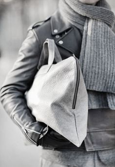 Autumn. Black & Grey. Clean. Leather. Scarf. Fresh. Man. Fashion. Style. Tough & Proper. Acheaphigh.