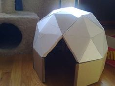 Your cat will love you. Well actually your cat will be indifferent to you, like always, but will probably adore his/her own geodesic dome-home!