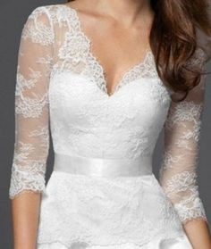 Unique Wedding Gowns With Sleeves | Reclom Gown How pretty with the lace and the sweet heart neckline