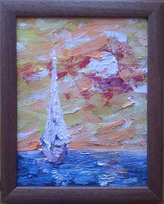 Slnko olej na smrekolite 20x26cm (rám:26x32cm) Art For Sale, My Arts