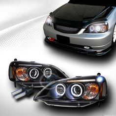 6000K HID XENON BLACK HALO LED PROJECTOR HEAD LIGHTS LAMPS 2001-2003 HONDA CIVIC in eBay Motors, Parts & Accessories, Car & Truck Parts | eBay