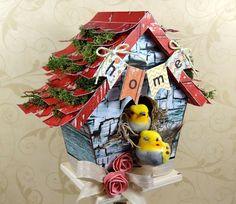 Altered birdhouse