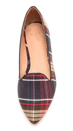Plaid loafers for fall.