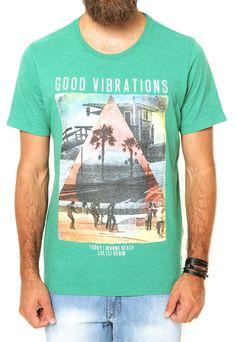 Camiseta Colcci Good Vibrations Verde - Marca Colcci