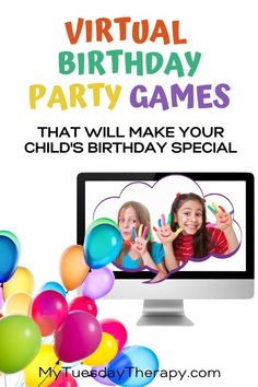 Virtual Birthday Party Games for Kids. If you are stuck at home celebrating your child's birthday… host a virtual birthday party! Fun with friends. Birthday party with far away friends. Birthday Party Games For Kids, Fun Party Themes, Party Activities, Birthday Party Themes, Party Ideas, Birthday Ideas, Birthday Party At Home, 9th Birthday, Virtual Games For Kids