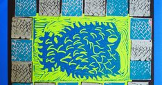 Fifth grade girls' recently completed this printmaking project. First, they drew a stylized animal design on paper which we transferred to a...