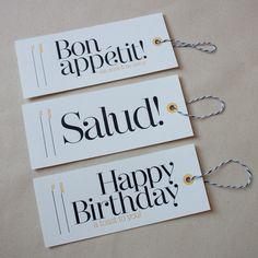 Letterpress printed Wine Tag, Gift Tag