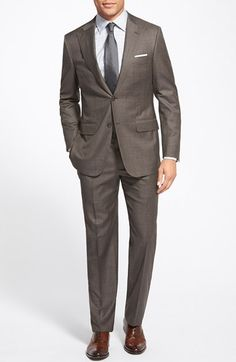 Hickey Freeman 'Traveler' Classic Fit Plaid Wool Suit