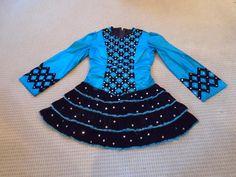 Divine Blue Gavin Doherty Irish Dance Dress Solo Costume For Sale
