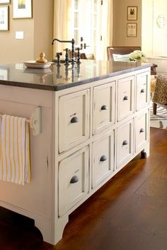 Beautiful Antique Chest used as a Kitchen Island
