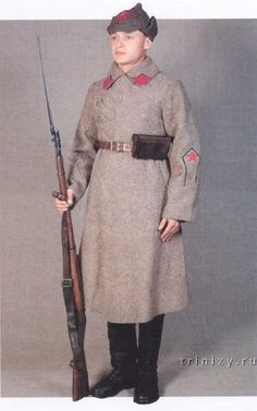 A Red Army soldier in winter, 1923-1924. - Uniforms In The Red Army