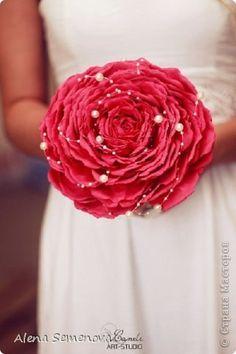Поделка изделие Свадьба Моделирование конструирование Гламелия Букет невесты Фоамиран фом фото 2