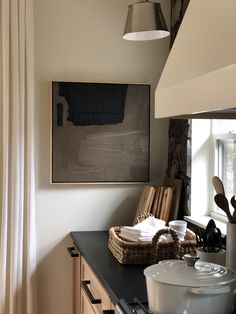 Joelle Somero provides interior design services and art and is based in Marquette, MI. Kitchen Interior, Kitchen Decor, Kitchen Design, Cafe Interior, Kitchen Styling, Country Look, Black And White Interior, Dining Room Design, Layout
