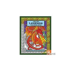 Celtic Legends Coloring Book by Mindware - Colouring Books - Arts & Crafts Materials - Category - Toys Coloring Book Art, Colouring, Bath Toys, Craft Materials, Book Activities, Celtic, Legends, Arts And Crafts, Art And Craft