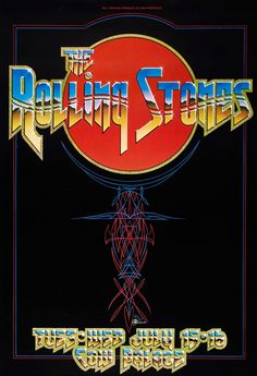 The Rolling StonesConcert Poster at Cow Palace 1975