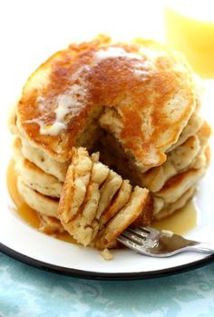 Easy and delicious light and fluffy vegan pancakes. Perfect for the weekend!