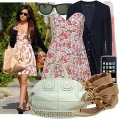 Ashley Tisdale floral dress, created by lolahaze on Polyvore