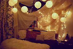 christmas lights and lanterns