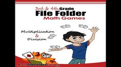 """3rd & 4th Grade File Folder Math Games  Get it here https://www.teacherspayteachers.com/Product/3rd-4th-Grade-File-Folder-Math-Games-3061029  """"Love these Math Folder Games. Students will love playing the games while they are learning and practicing Multiplication and Division!"""" - Geoffrey N."""