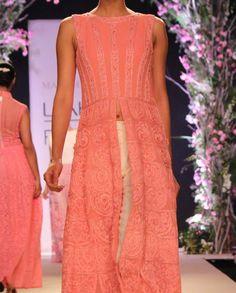 Pink Georgette Embroidered Kurta- Buy Summer Affair '14 Online   manishmalhotra.in