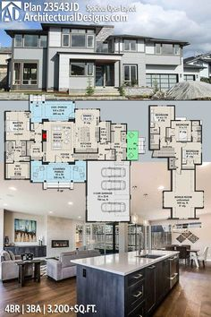 Architectural Designs Modern House Plan 23543JD gives you 4 beds, 3 baths and over 3,200 sq. ft. of heated living space. Ready when you are. Where do YOU want to build? #23543jd #adhouseplans #architecturaldesigns #houseplan #architecture #newhome #newconstruction #newhouse #homedesign #dreamhome #dreamhouse #homeplan #architecture #architect #modernhouse #modernhome #modern