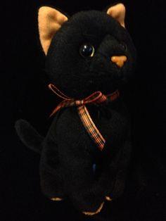 Ty SNEAKY Black Cat Halloween w Orange Rare 7