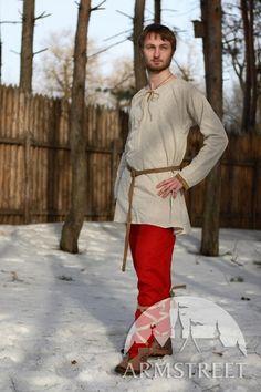 Tunique chemise normande médiévale en lin d'ArmStreet