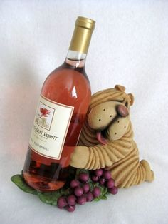 Shar Pei Dog Wine Holder from Direct Connection