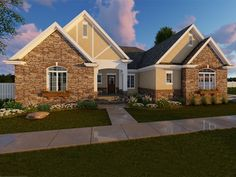 050H-0120: European House Plan is Ideal for Busy Families