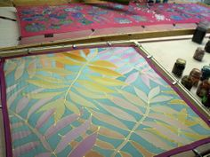 Hand painted silk scarves - http://silkyway.hu/english