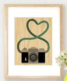 Look at this Camera Large Wood Print on #zulily today!