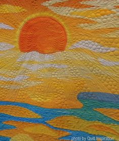 """The Sunrise in the Bougainvilleas, 59 x 71"""", by Mihoko Tanaka, Japan.  Closeup photo by Quilt Inspiration: Highlights of the 2016 Pacific International Quilt Festival ! Day 3"""