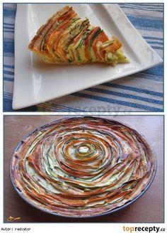 Slaný koláč z cuket a mrkve Ratatouille, Cabbage, Food And Drink, Pizza, Baking, Vegetables, Ethnic Recipes, Fit, Shape