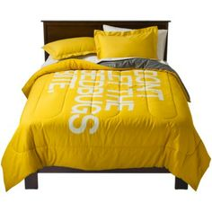 """My mom always says """"Goodnight, sleep tight, don't let the bedbugs bite""""... I need this comforter!!! TOO by Blu Dot Snug Comforter Set"""