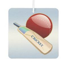 Cricket Ball and Bat Sports Blue Air Freshener   #superbowl #shirts #tshirts cricket crafts, cricket illustration, cricket coaching, back to school, aesthetic wallpaper, y2k fashion Cricket Coaching, Cricket Crafts, Blue Air, Cricket Sport, Air Freshener, White Elephant Gifts, Blue Backgrounds, Aesthetic Wallpapers, Art For Kids