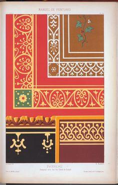 Recueil de cent planches de décoration : extraites du Journal-manuel de peintures DATES / ORIGIN Date Created: 1874