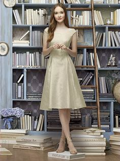 Lela Rose Bridesmaid Style LR228 (shown in metallic gold)