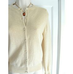 """Like NEW Sutton Studio 100% Cashmere Cardigan This is a unique, buttery-STRAW-hued cashmere cardigan I've coveted but never wore. It's so soft and such a delicate, warm, feminine and practical shade, unlike any I'd seen before. It's a small-Petite, but should fit most size smalls: byst: 16.75"""" flat across, sleeves: 23.5"""", total length: 22.5"""". Sutton Studio Sweaters Cardigans"""