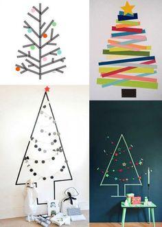 Masking tape pour une décoration temporaire à Noël  http://www.homelisty.com/masking-tape/