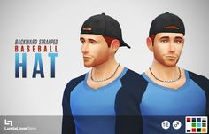 Lumia Lover Sims: Backwards hat with strapped bit • Sims 4 Downloads