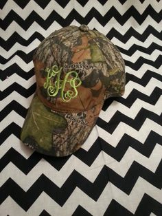 Monogrammed Camo Hat by EmbroideryByKayla on Etsy