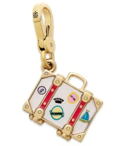 56.49 Juicy Couture Charm, Gold-Tone Suitcase Charm