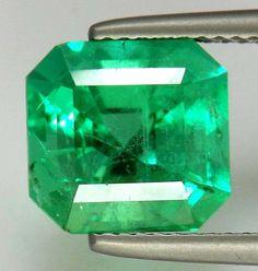 Gem 4.69 ct Natural Colombian Emerald Octagon Cut Loose Gemstone Superb Quality  #Unbranded