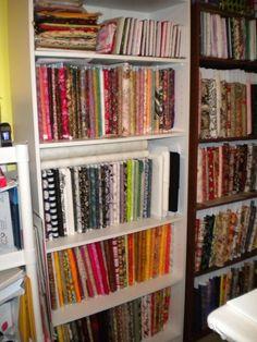 Quilt fabric storage idea