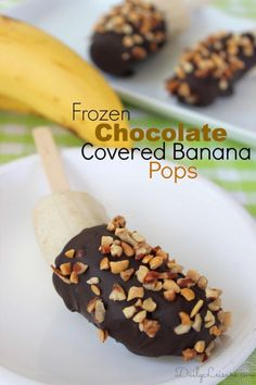 Frozen Chocolate Covered Banana Pops Recipe. One of my son's favorite desserts. http://itz-my.com