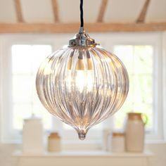Ava Pendant Light made by Jim Lawrence.  Gorgeous glass pendant light. £119